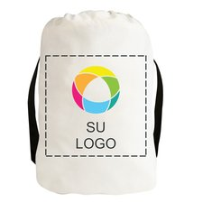 Mochila de lienzo de algodón con cierre de cordón e impresión a tinta a todo color
