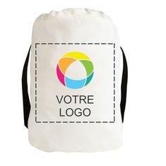 Sac à dos coulissant en toile de coton imprimé couleur (exclusivité PromotiqueMC)