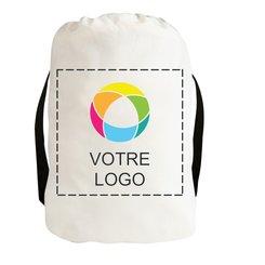 Sac à dos en toile de coton avec cordon de serrage (Promotique™ Exclusive)