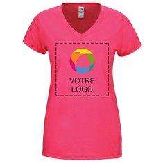 T-shirt femme col en V jersey SofSpun Fruit Of The LoomMD