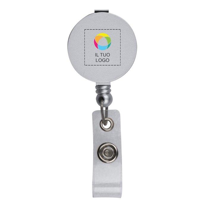 Clip a rotella con stampa a colori