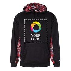 Badger Digital Camo Colorblock Hooded Performance Sweatshirt