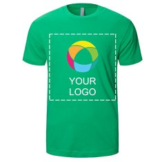 T-shirt manches courtes ajusté imprimé encre Crew NextLevel