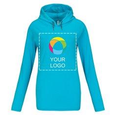 Anvil® Women's Lightweight Long Sleeve Hooded T-Shirt