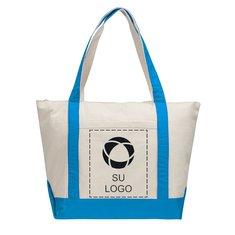 Bolsa de lienzo de algodón de 12 onzas con cremallera