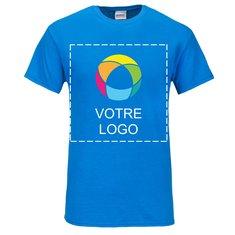 T-shirt manches courtes coton épais imprimé à l'encre GildanMD