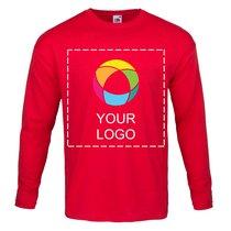 Fruit of the Loom® långärmad T-shirt av 100% bomull i herrmodell med bläcktryck