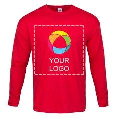 Maglietta da uomo a maniche lunghe 100% cotone con stampa a inchiostro Fruit of the Loom®