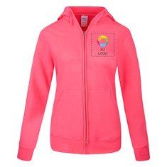 Sudadera con capucha y cremallera completa Port & Company® Core Fleece para damas