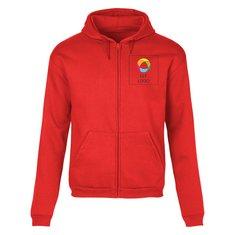 B&C™ ID.205 trøje med fuld lynlås i 50 % bomuld og 50 % polyester