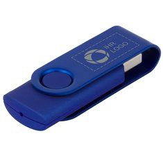 USB-Stick Rotate Metallic (4 GB) mit Lasergravur