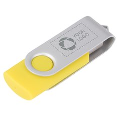 Memoria USB giratoria básica de 2 GB grabada con láser