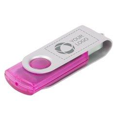 Chiavetta USB da 2 GB semitrasparente con incisione a laser Rotate
