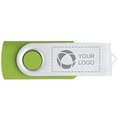 Svängbart USB-minne med lasergravyr, 4GB