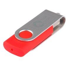 Memoria USB giratoria básica de 1 GB grabada con láser