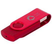 Memoria USB giratoria metálica de 4 GB grabada con láser