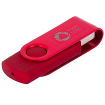 Rotate metallic USB-nøgle på 4 GB med laserindgravering