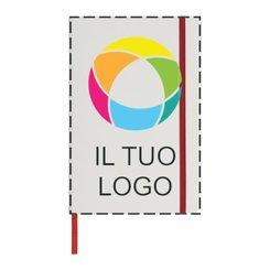 Blocco note A5 bianco con elastico colorato e stampa a colori Spectrum Bullet™