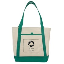 Lighthouse Boat Tote Bag