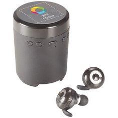 Kabelloser Lautsprecher und TruWireless-Ohrhörer von iFidelity® mit Vollfarbdruck