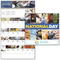 """Calendario engrapado """"Día festivo nacional"""" de BIC Graphic"""