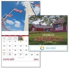 Calendario grapado Celebrate America de BIC Graphic
