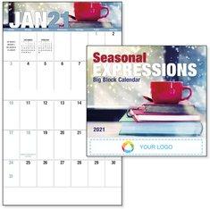 BIC Graphic Seasonal Expressions Big Block Stapled Calendar
