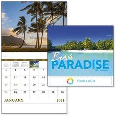 BIC Graphic Beach Paradise Stapled Calendar