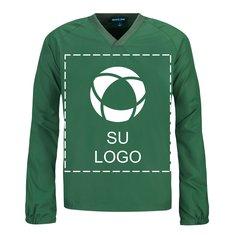 Camisa cortaviento con cuello V y mangas raglán para impresión por serigrafía de Sport-Tek®
