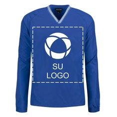 Camisa cortaviento Sport-Tek® con cuello V con reborde y mangas raglán para serigrafía