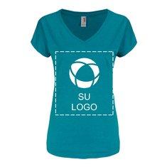 Camiseta para serigrafía de triple mezcla con escote en V para dama de Anvil®