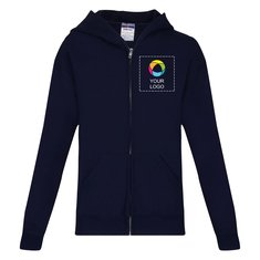 JERZEES® NuBlend® Youth Full-Zip Hooded Sweatshirt
