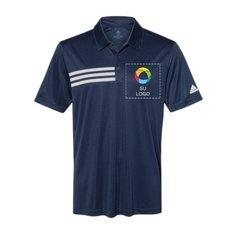 adidas® - Camisa deportiva con 3 franjas en el pecho