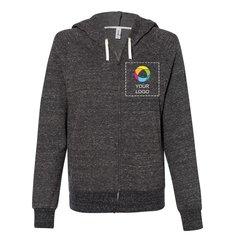 JERZEES® Women's Snow Heather French Terry Full-Zip Hooded Sweatshirt