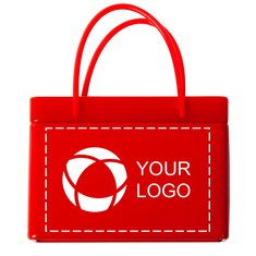 Red Shopping Bag Tin with Mints