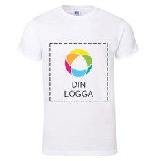 Russell kortärmad T-shirt av 100% ringspunnen bomull med bläcktryck