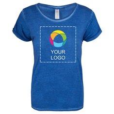 B&C™ Denim Plug In dames-T-shirt met korte mouwen