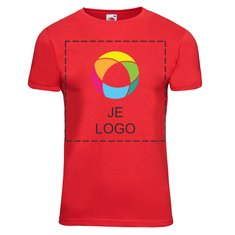 Fruit of the Loom® Met Inkt Bedrukt Getailleerd Valueweight T-shirt voor Heren