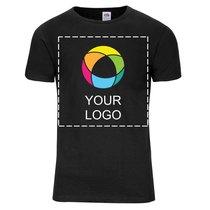 Fruit of the Loom® Valueweight T-shirt i snäv herrmodell med bläcktryck