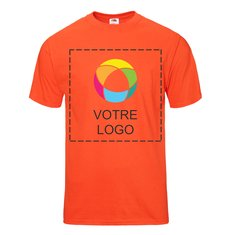 T-shirt en coton épais HDMC 5 oz Color Overlay Fruit of the LoomMD
