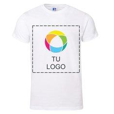 Camiseta de manga corta Premium confeccionada en 100% algodón hilado en anillo de Russell™