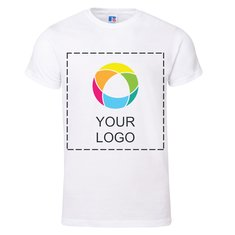 Premium-T-Shirt mit Kurzarm aus 100% ringgesponnener Baumwolle von Russell™