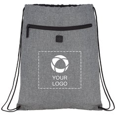 Bullet Graphite Drawstring Sportspack with Earbud