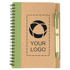 Cahier écologique à spirale avec stylo