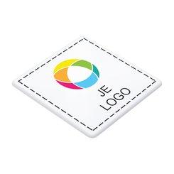 Vierkante kunststof onderzetter in full-colour print
