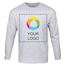 Fruit of the Loom® 100% Cotton Ink Printed Men's Long-Sleeve T-Shirt