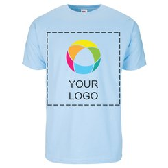 Fruit of the Loom® T-shirt med print til herrer i 100 % bomuld
