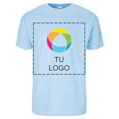 Camiseta de manga corta Fruit of the Loom® de 100 % algodón con estampado en tinta