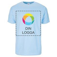 Fruit of the Loom® kortärmad T-shirt av 100% bomull med bläcktryck