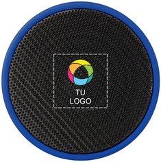 Altavoz cilíndrico de goma con Bluetooth y estampado a todo color de Bullet™